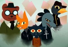 Night in the woods by SkitzOpheliac
