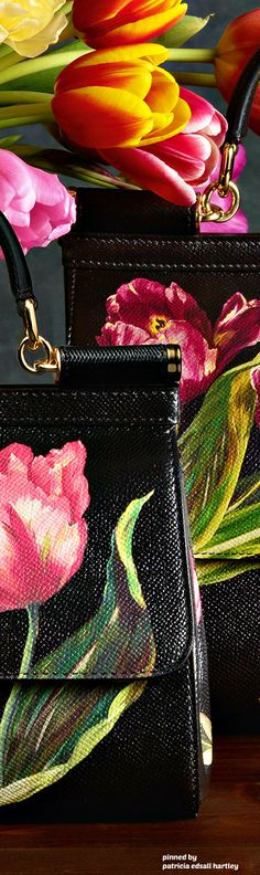 Dolce & Gabbana - FW 2017 - Tulips, bag, сумки модные брендовые, bags lovers, http://bags-lovers.livejournal