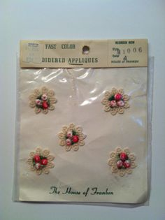 Vintage Embroidered Dainty Floral Appliques by TheDearestDollhouse, $16.00