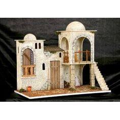 Christmas In Italy, Rustic Christmas, Fontanini Nativity, Kids Castle, Diy Crib, Medieval Houses, Christmas Nativity Scene, Glitter Houses, Diy Home Crafts