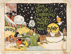 first Walt Disney Season's Greetings card 1930