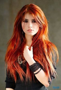 Redhead with black