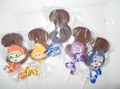 12 Bubble Guppies Nick Jr 3rd Third birthday Party favor Chocolate Lollipops Birthday Gifts Party Favor Kids