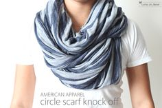 DIY: circle scarf...more scarves! I like the look of this one over the other infinity scarves since it has more body