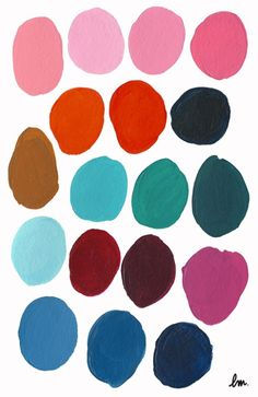 nice colors and could paint circles on paper and the cut the triangles out of the paper and make low relief 3-D triangles to see if you can retain the image of the circles Léa Maupetit
