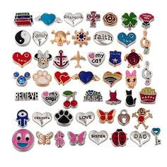 #happy #RUBYCA High quality Floating Charms fit Living Memory Glass Lockets Floating charm lockets can be an ideal present. It's an exceptional gift for the budd...
