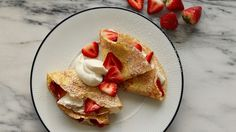 The French enjoy thin, pancake-like crepes with sweet or savory toppings and fillings at any type of day. These are sweetened slightly with sugar, perfect for a simple dessert. Serve rolled up or folded.
