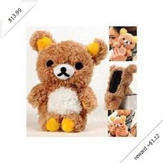 Plush Toy Case for iPhone 4 and iPhone 4S -- Best Quality Brown Bear Rilakkuma