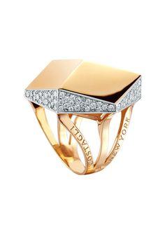 Paolo Costagli 18K Rose Gold Brilliante Diamond Ring