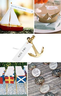 Love the nautical flags for the place settings