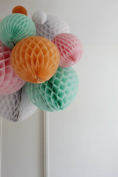 Jazz up your next party or add a showstopping touch to your wedding with honeycomb balls - see 10 festive ideas at The Sweetest Occasion Party Set, Party Time, Diy Party Decorations, Paper Decorations, Diy And Crafts, Paper Crafts, Honeycomb Paper, Diy Wedding, Party Wedding