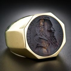 Galileo Intaglio Gents Ring - 30-1-4991 - Lang Antiques