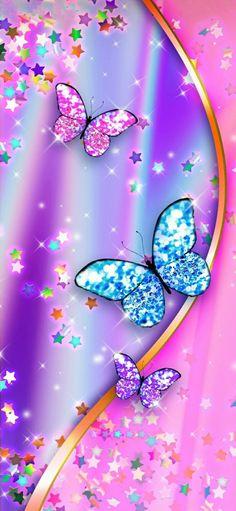 Glamour Wallpaper, Glittery Wallpaper, Purple Butterfly Wallpaper, Unicornios Wallpaper, Pretty Phone Wallpaper, Flowery Wallpaper, Flower Phone Wallpaper, Rainbow Wallpaper, Cellphone Wallpaper