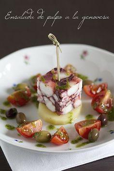 Octopus salad Genovese - #plating #presentation