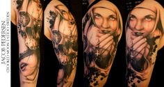 Skull tattoos by Jacob Pedersen