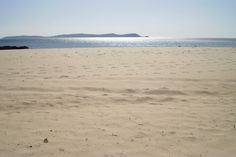 La Lanzada beach with Ons island at the end, O Grove, Pontevedra - Spain