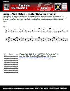 Jump – Van Halen – Guitar Solo On Drums Sheet