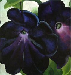 Black and Purple Petunias - Georgia O'Keefe