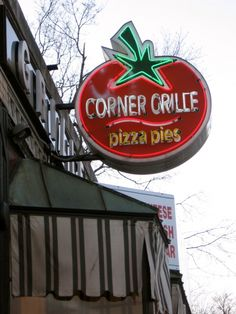 Corner Grille, Worcester, MA. chicken caesar salad pizza? yes please.