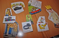 """PlayDrMom shares a comprehension matching game she created for """"The Spiffiest Giant in Town"""", by Julia Donaldson. College Activities, Literacy Activities, Activities For Kids, Book Area, Clothing Themes, Traditional Tales, Mobile Learning, Primary Education, Matching Games"""