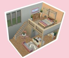 Sims 4 Challenges, Sims 4 House Design, Sims House Plans, Casas The Sims 4, Sims 4 Mods Clothes, Sims 4 Build, Girls Bedroom, Bedrooms, Toddler Bed