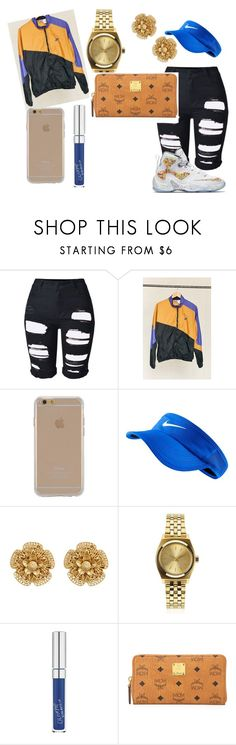 MCM by ashantisowell on Polyvore featuring Urban Renewal, Topshop, MCM, Miriam Haskell, Nixon, Agent 18 and NIKE