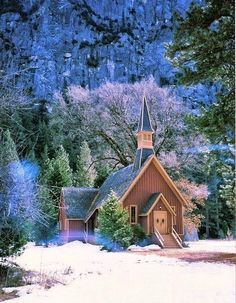 a joyful winter Christmas .. X ღɱɧღ ||   Totaly Outdoors: Church in The Snow