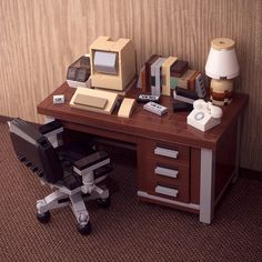 Retro LEGO workspace makes us nostalgic for floppy disks