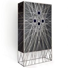 FRACTALE CABINET by ERWAN BOULLOUD DESIGNER AND SCULPTEUR | Cabinet, sculpture, stainless and patinated steel | Metal Cabinet | Cabinet Design | Modern Cabinet | Living room cabinet | http://buffetsandcabinets.com