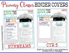 2016 Primary Printables: I Know the Scriptures are True