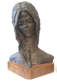 Bronze Sculpture Woman Bust | From a unique collection of figurative sculptures at https://www.1stdibs.com/art/sculptures/figurative-sculptures/