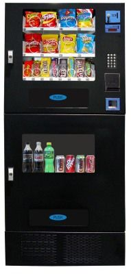 Seaga OVM 716 Combination 16 Snack/7 Soda - Combo Vending Machine