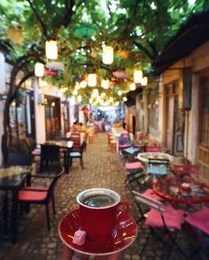 ☕️♥ A glass of delicious Turkish Tea (place:Selfie Cafe - Istanbul, Turkey ) // Photo by Devrim Ates(revolutionship)