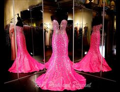 Raspberry Strapless Ball Gown | Pageants, Ball gowns and Prom