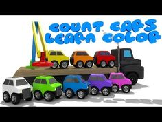 Learn Colors with Small Car for Children - Cars for Kids & Learn Numbers for Kids Nursery Rhymes - YouTube