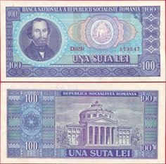 featuring Nicolae Bălcescu and the coat of arms of Romania on the obverse side, and the Ateneul Român Concert Hall in Bucharest on the reverse side. Romanian Flag, Character Art, Character Design, Thinking Day, My Memory, Coin Collecting, Coat Of Arms, Bucharest, The 100