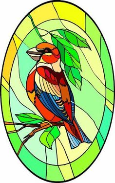 Colorful Red Bird on Branch with Green Leaves - Etched Vinyl Stained Glass Film, Static Cling Window Decal by Window Art in Vinyl Etchings. $7.95. Advanced UV protection insures material will not discolor or damage glass.. Clear static-cling vinyl decal effortlessly attaches to glass without the need for any adhesive.. Simple to remove, the vinyl decals can be easily reapplied without the loss of static cling.. Vinyl decal material and ink are safe for outdoor or indoor use.. M...