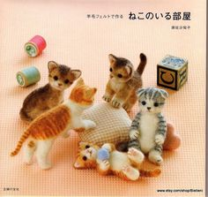 ************** The listing is for an eBook (electronic book) ************* Make your adorably cute kitty cats - felt toys collection from this E-book Japanese Felting Crafts ebook Full of Diagram Pattern ✿ Code E-book : FAB09 ✿ Pages : 74 ✿ Size(MB) : 13 ✿ Language : Japanese (Instruction in diagram pattern/schema) ✿ Format : PDF Files ✿ Shipping : FREE =) ✿ Delivery : INSTANT DOWNLOAD ************** Thank you for visiting and happy shopping *************
