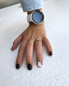 55 Acrylic Coffin Nail Designs to Try 2019 - Black leaf – botanical nails, nail art designs, nail designs, nail art, nail designs acrylic - White Nail Designs, Acrylic Nail Designs, Nail Art Designs, Short Nail Designs, Simple Nail Designs, Nails Design, Black Nails, White Nails, Fun Nails