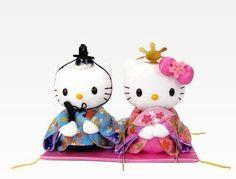 凱蒂貓和丹尼爾·親愛的毛絨的傳統服裝和服