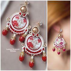 Soutache earrings by Layla Jewelry