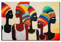 Cuadro Turbantes de colores no es solo para los amantes de estilo étnico. Başörtüsü Modelleri 2020 - Tesettür Modelleri ve Modası 2019 ve 2020 Arte Black, African Colors, Afrique Art, African Art Paintings, Easy Paintings, Tableau Design, African American Art, African Women, Tribal Art