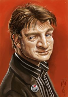 "CARICATURAS DE FAMOSOS: ""Castle"" interpretado por ""Nathan Fillion"" by Jaum..."