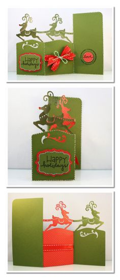 Bits of Paper: Happy Holidays! Done with the Silhouette but could likely do it with my Gypsy