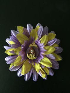 Beauty and the beast hair flower