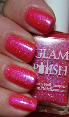 Glam polish it's a shore thing with light 💡 Dark Red Lips, Manicure, Nails, Nail Polish, Nail Bar, Finger Nails, Ongles, Nail Polishes, Polish