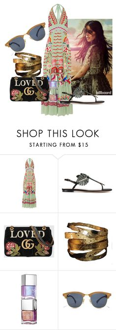 """Summer extravaganza"" by sofiacalo ❤ liked on Polyvore featuring Temperley London, Valentino and Gucci"