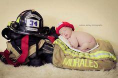 Fireman Hat Photo Prop Newborn Chunky On Sale
