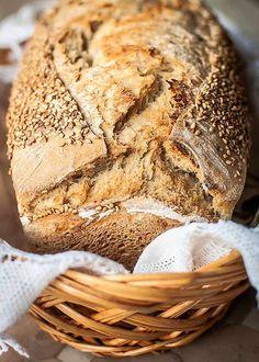 Pan de molde con trigo, espelta integral, miel y masa madre