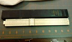 Vintage DeLuxe Slide Rule with Case Lawrence Engineering Service Peru Indiana #LAWRENCEDELUXESLIDERULE